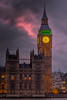 Big Ben at dusk - and HDR shot which did not capture the beautiful red sky.
