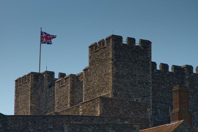 The original site of Dover Castle may have been fortified prior to the Roman invasion in 43 AD. The castle has been remade and remodeled as warfare technology changed - especially the use of gunpowder. Because of the strategic location the castle has played a part in many wars.
