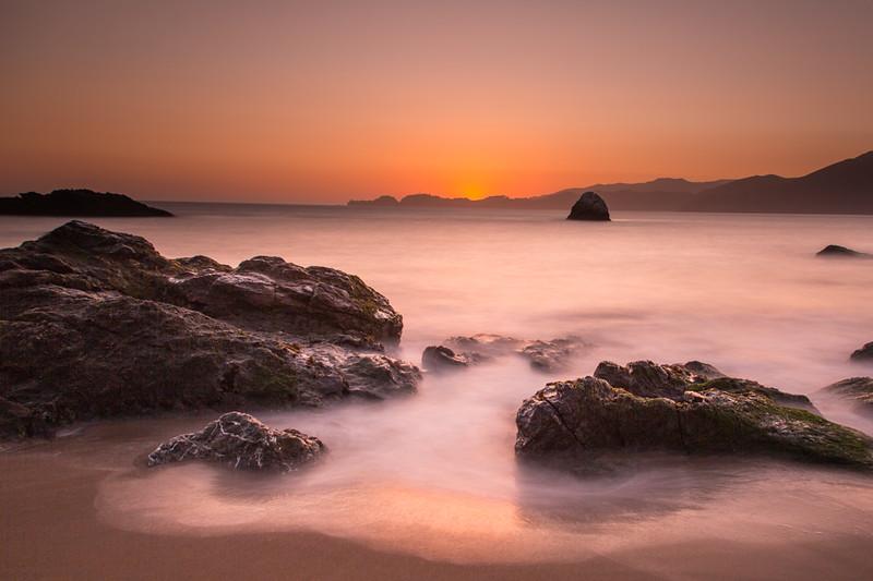 Sunset on Marshall Beach