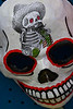 A paper mache skull at the Day of the Dead celebration