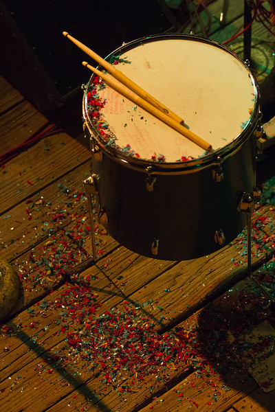After the show - a drum and the confetti.