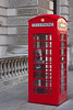 The little red telephone booths are everywhere and very photogenic. Hard to believe they are still in use.