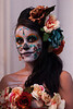All dressed up for the Day of the Dead parade in Austin.