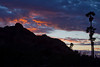 The sunset in Paradise Vally, AZ.  Camelback Mountain on the left hiding the sun.