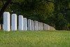 A row of headstones at the Texas State Cemetery of Civil War veterans.