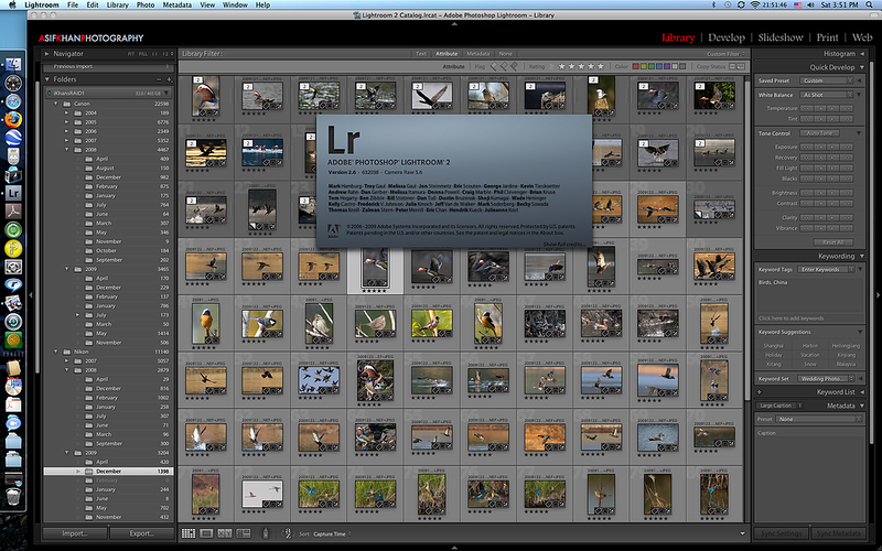 I use Adobe Lightroom (v2.6 currently) for my digital workflow. I generally import photographs, pick the keepers, delete the remaining, do some basic spot removals, cropping and exposure / brightness and contrast adjustments before publishing them for any use. It is excellent and highly recommended.