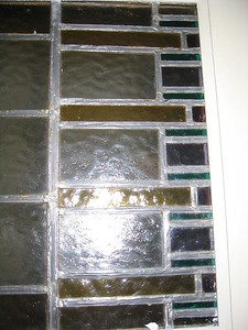 Stained glass door elements, need repair