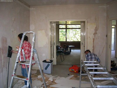Livingroom being stripped