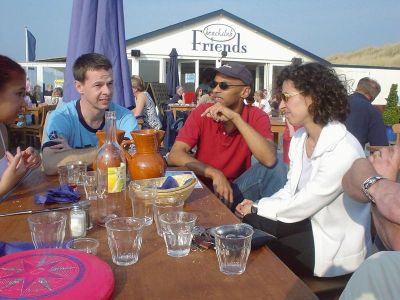 Later, Yves, Madou and Tijen from EPO joined us (after I sent them to the wrong beach first, sorry!)