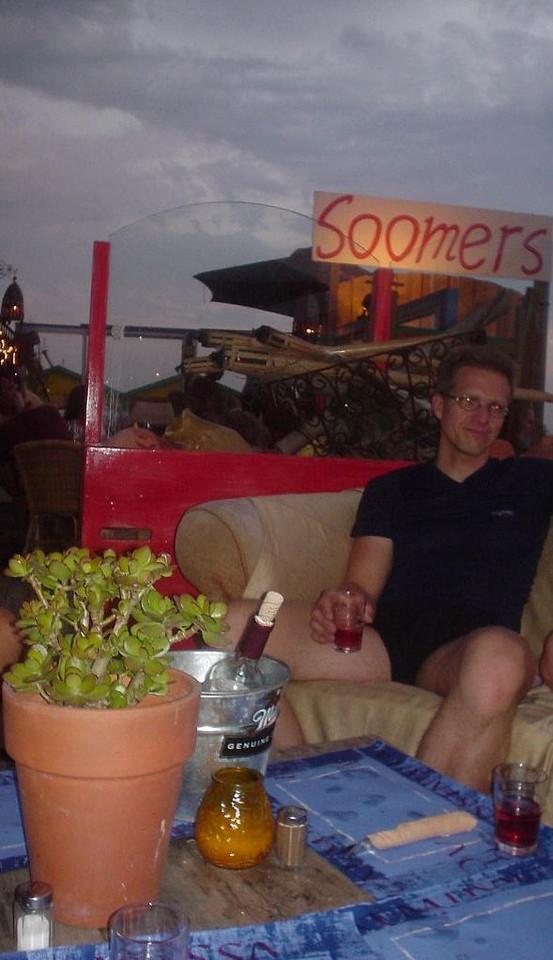 "Late dinner in <a href=""http://www.strandtentsoomers.nl/"">beach club Soomers</a>"