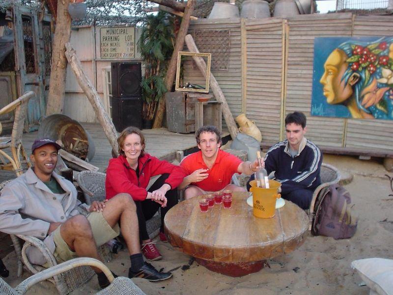 Drinking rosé, Madou, Petra, Ineki and I