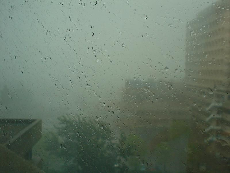 June 4th, early afternoon... Big thunderstorm hits while at work. Visibility drops to near zero... but...