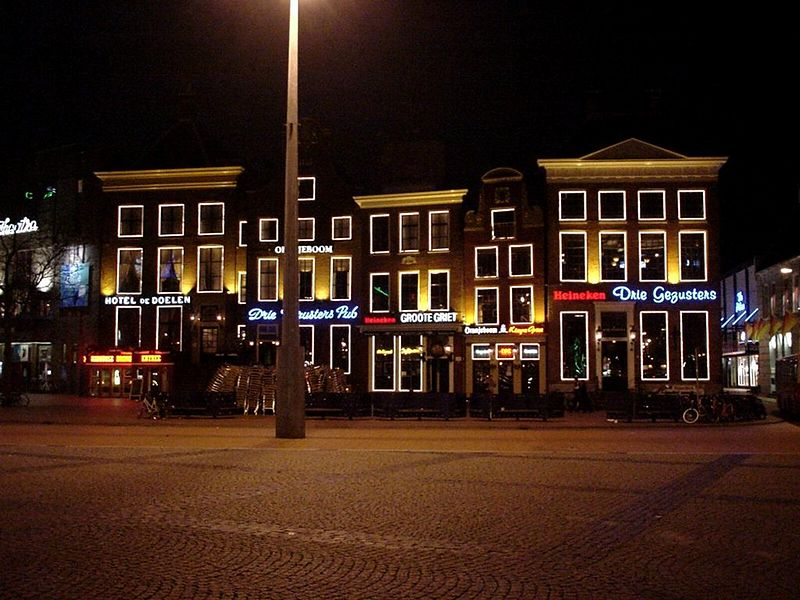 The most famous pubs in Groningen:<br> Drie Gezusters, Groote Griet, Kleine Griet and Drie Gezusters Pub