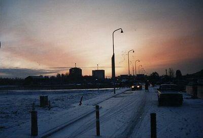 Winschoterdiep, Groningen, winter 1996