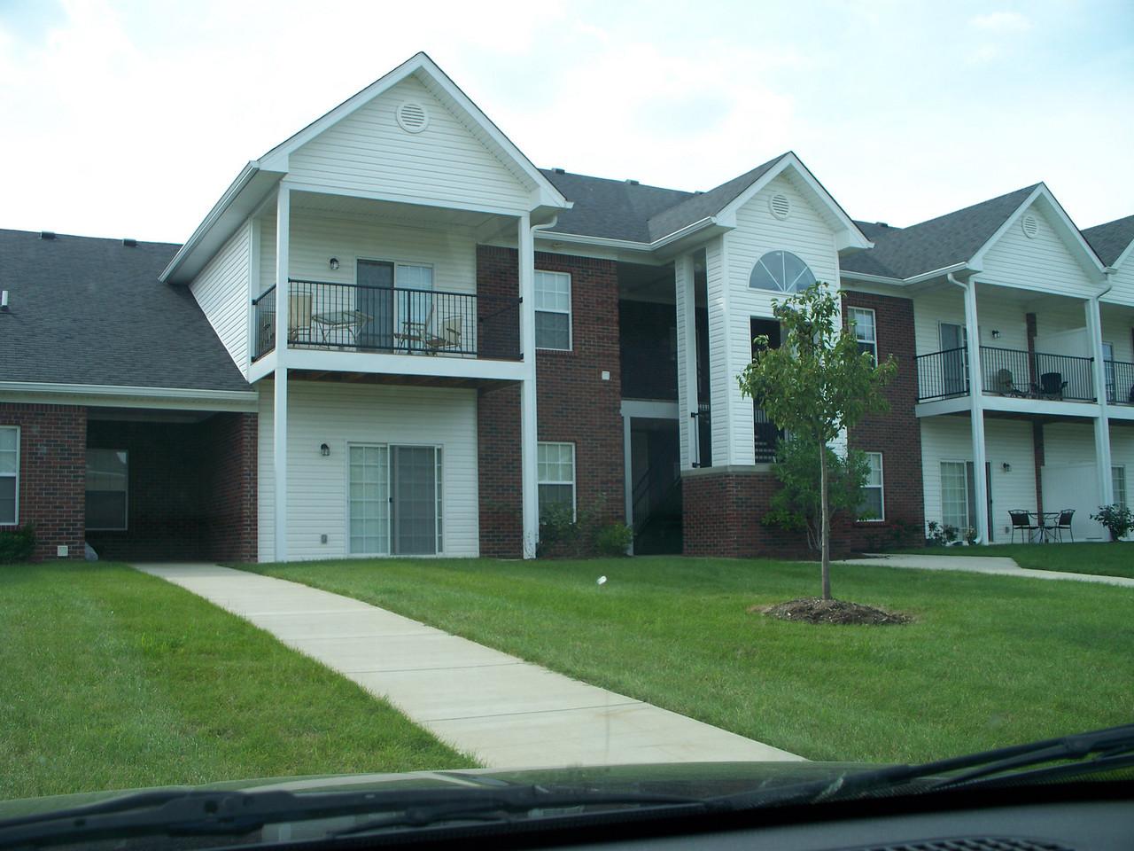 My apartment, bottom sliding door is to my living room
