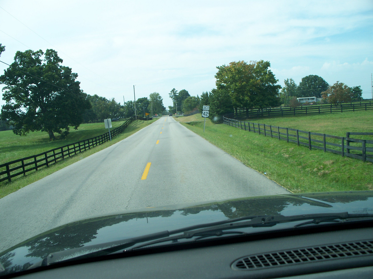US 42 is one of those roads that time forgot, bypassed by the Interstate, two lanes meandering between small towns.  I look for these roads when traveling
