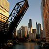 Chicago River Leading to Willis Tower