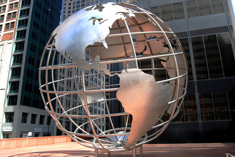 Globe Outside of Willis Tower
