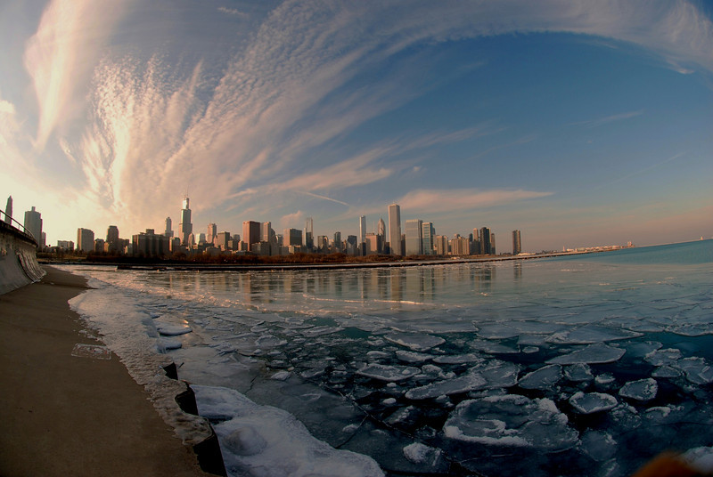 Ice Cold Chicago Skyline