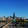 Chicago Skyline View From I-90/94