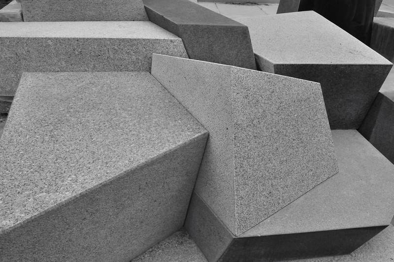 Kirkland bus stop granite art installation