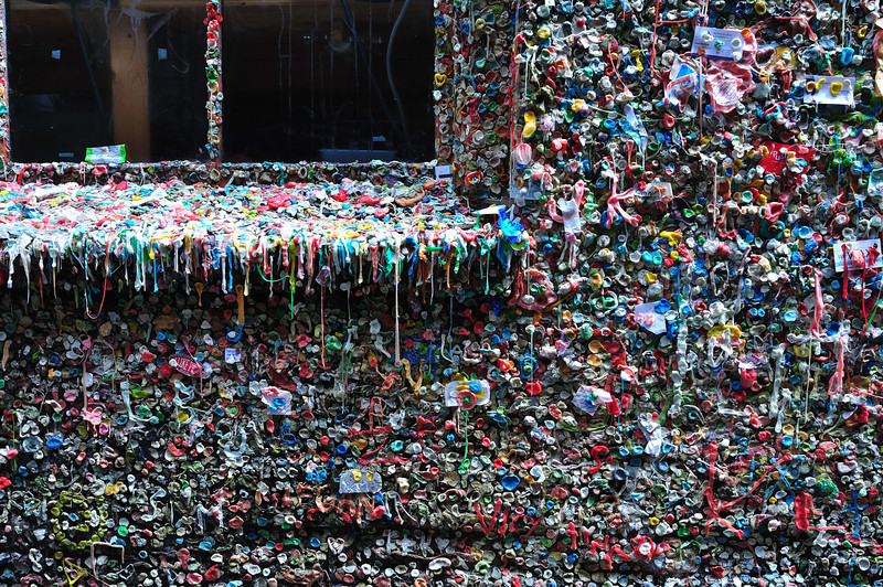 Seattle Pike Place Market gum wall