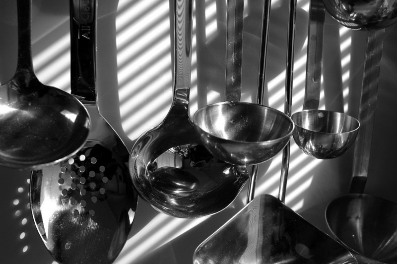 Ladles in black and white
