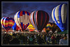 Highlighted Hot Air Balloons
