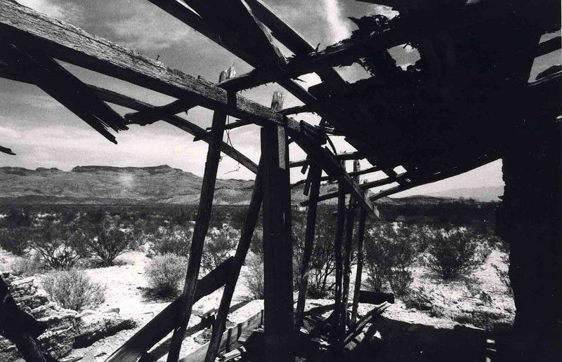 MARISCAL MINE RUIN<br /> This is one of three photos displayed at the Photographic Center in Dallas. We were showing our work from the previous year's workshop to Big Bend National Park.