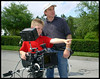 Michael Krebs, with the youngest director on record.  2004.  <br /> This was posted at Chesapeake Camera for years.<br /> Photo: Richard Blakeslee.