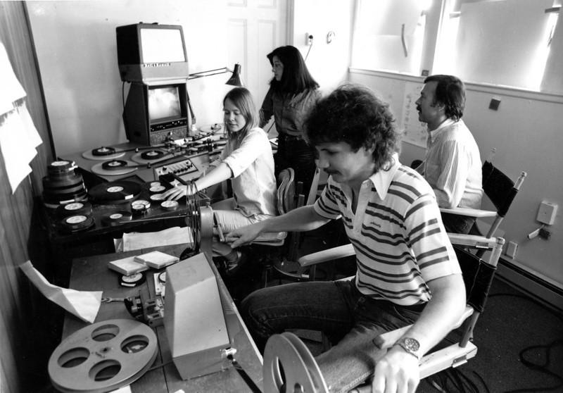 """Cornerstone"" Chuck Roseberry; Peggy Miles; Clare Macken, producer/director. 1983.<br /> Photo: Tom Lipman."