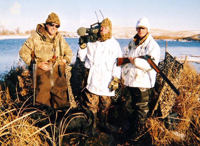 """""""Taking Aim"""", Tom Roster on left. 1993."""