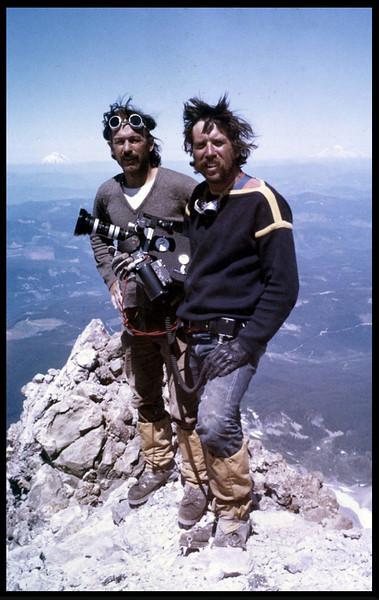 "Richard Blakeslee and Reagan Ramsey ""Call It Macaroni"", (Mt. Hood) 1976."