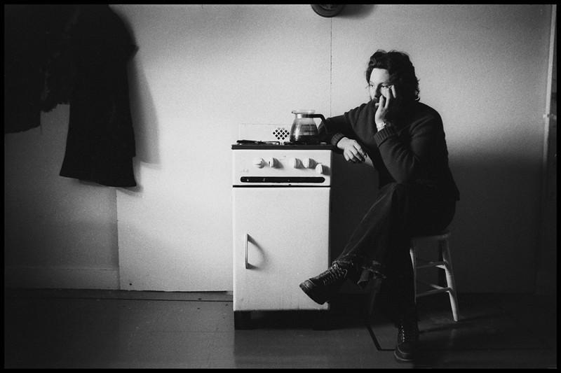 "Vern Luce, Jim Blashfield's partner on, ""The Mid-Torso of Inez"".  1977.<br /> Photo: Richard Blakeslee"