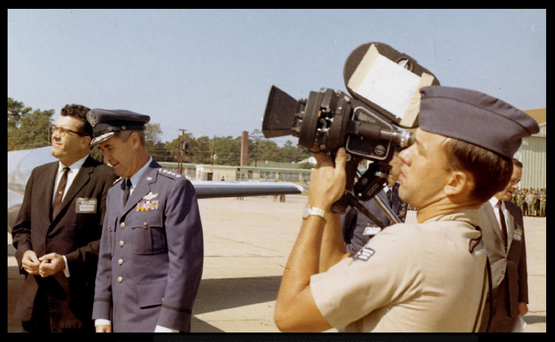 Gen. Sweeny, head of TAC. A/1C Richard Blakeslee shooting for the Air Force News Review. 1964.