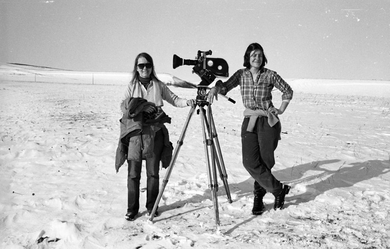 Peggy Miles, location sound recordist; Connie Poten, producer/director; 'Contrary Warriors, A Film of The Crow Tribe.' 1982.<br /> Photo: Richard  Blakeslee