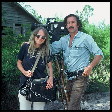 """""""Forest"""".  Peggy Miles, location recordist, later my wife.  1978"""