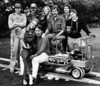 """Unhinged"" crew, Eric Edwards, me, Laural Munson, Don Gronquist, producer/director;<br /> Peggy Miles, Harry Dawson, Chuck Roseberry, Scott. 1981.<br /> Photo: Tom Lipman"