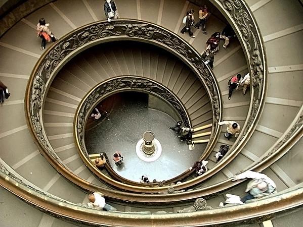 Sistine Gallery stairwell