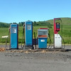 The old petrol pumps at Wooler, Northumberland