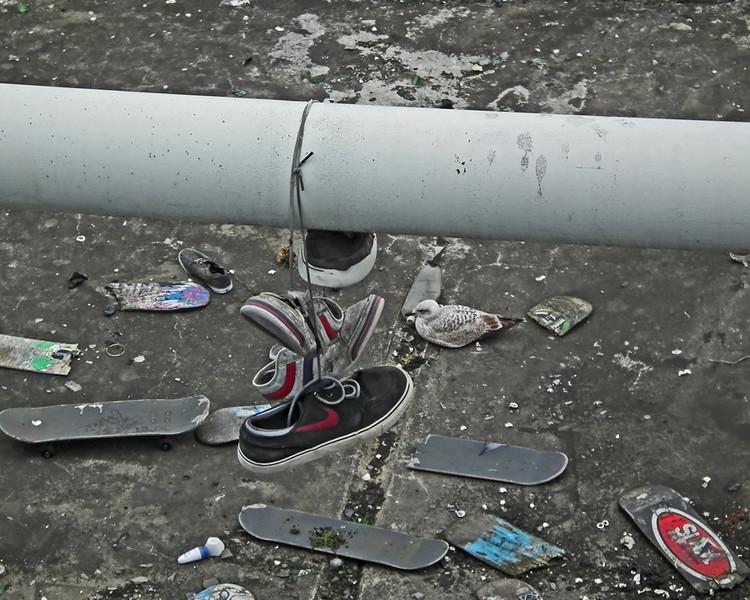 The Skateboard graveyard