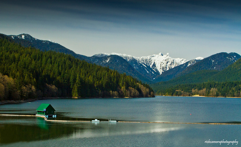 Capilano lake,north shore mountain,Vancouver,Canada