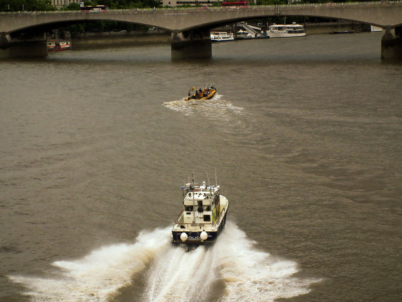River Police chasing down a speeding boat