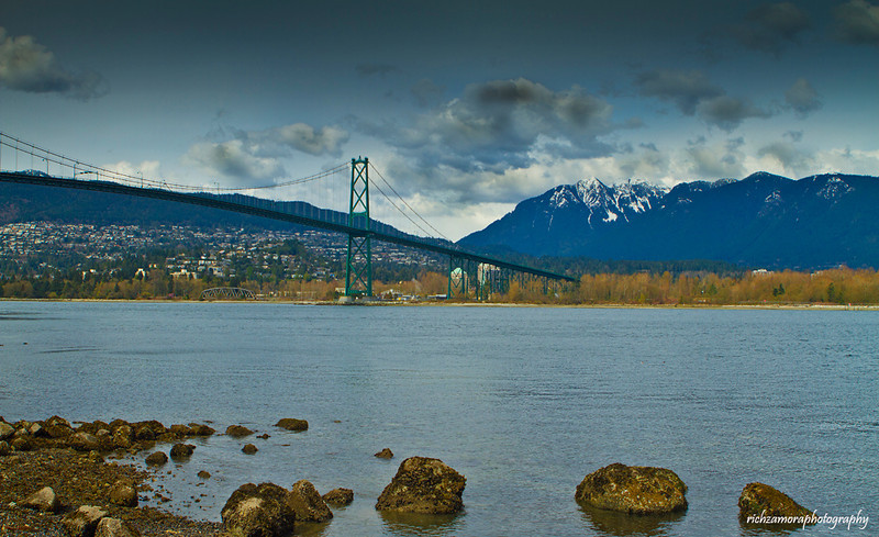 The lions gate bridge,Vancouver,Canada