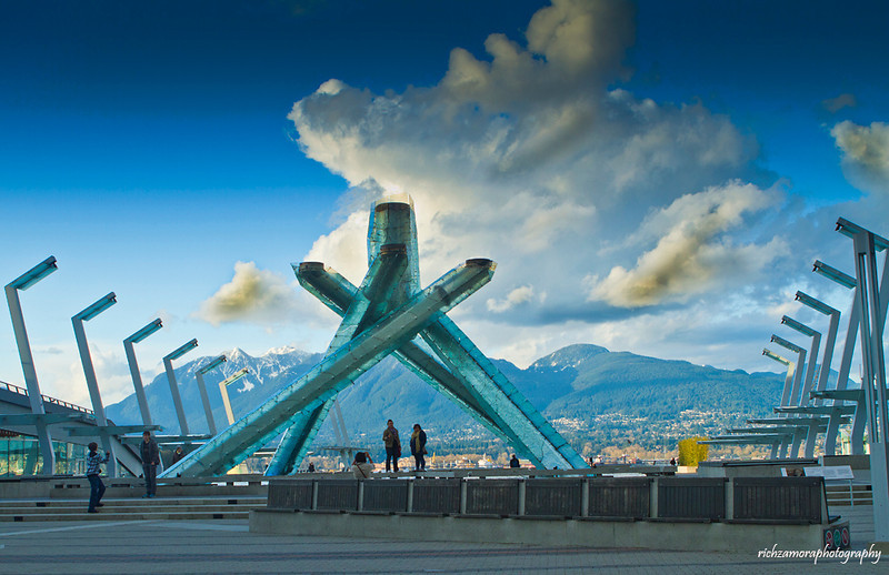 The incandescent glass-and-steel cauldron,vancouver,Canada