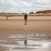 'Another Place' art instalation by Antony Gormley
