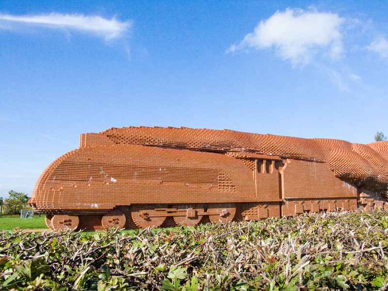 A train made of bricks in Darlington