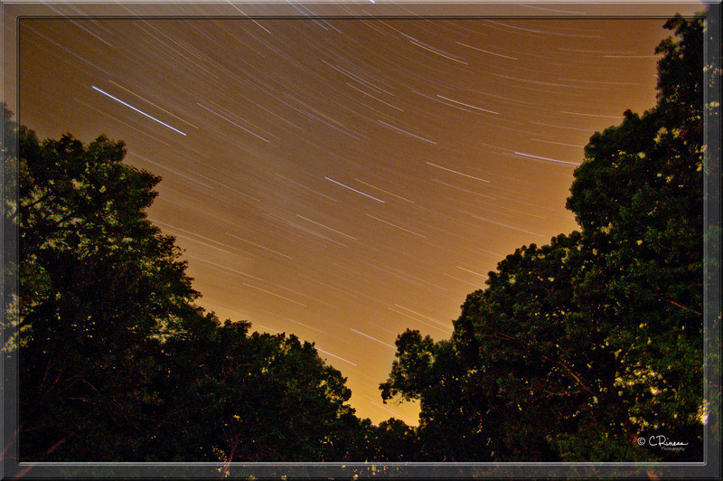 The night before in camp... star trails on the eve of the wedding.