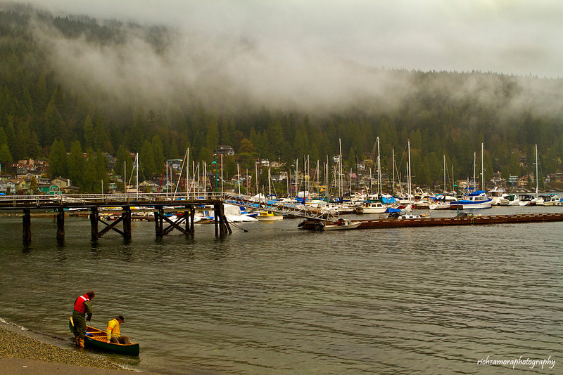 Foggy morning @ deep cove,north Vancouver,Canada