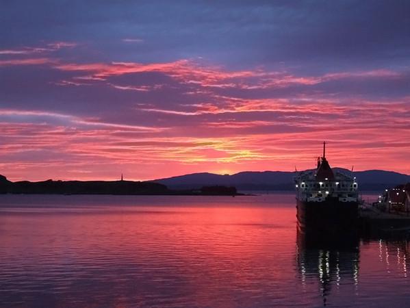 Sunset over Oban, Scotland